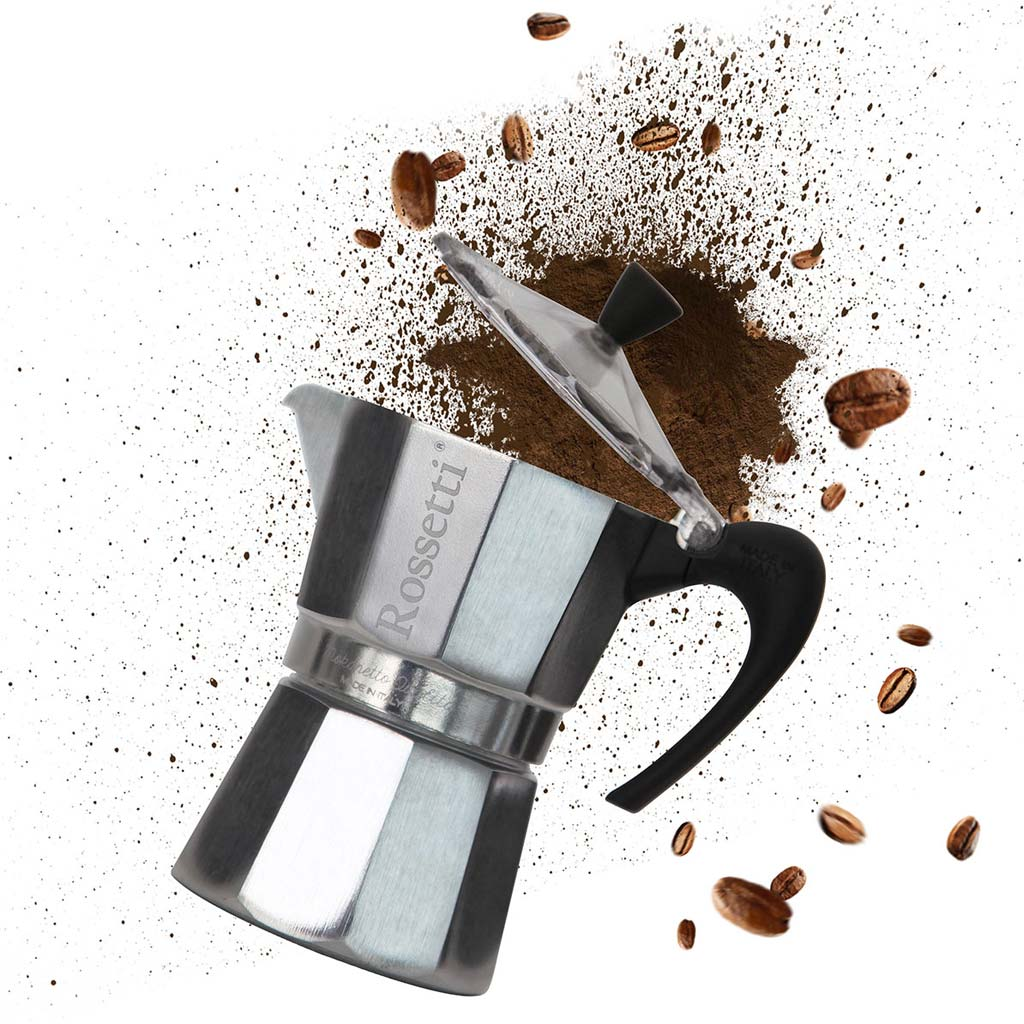 Mokanetto Made in Italy Original 6 Espresso Cup Stovetop Italian Moka Coffee Espresso Maker Pot