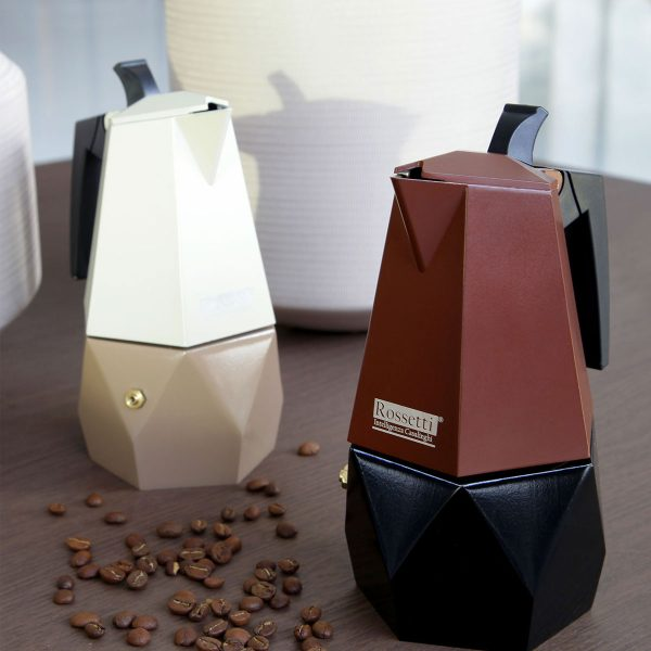 Italian Espresso Maker   Moka Stovetop Coffee Maker Pot   Cafe Creme